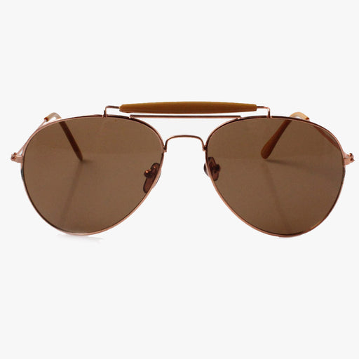 Camel Cross Bar Aviator Sunglasses
