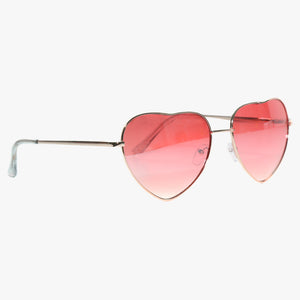 Heart Shape Sunglasses with Pink Lens - Accessory O