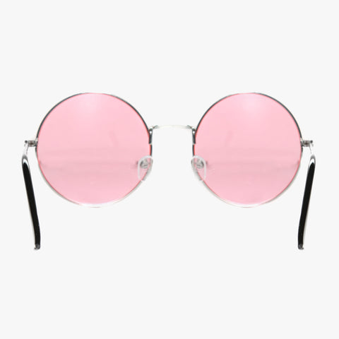 Round Sunglasses with Pink Lens - Accessory O