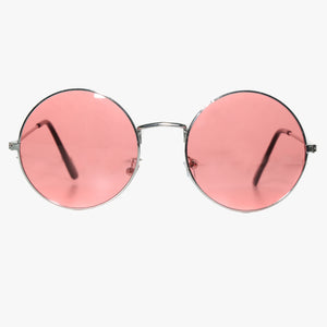 Round Sunglasses with Red Lens - Accessory O