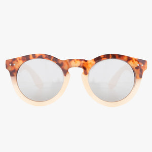 Tan Tortoise Shell Round Sunglasses - Accessory O
