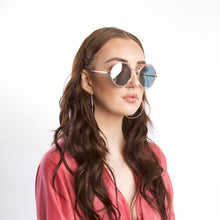 Load image into Gallery viewer, Silver Round Sunglasses With Octagon Pink Lens - Accessory O