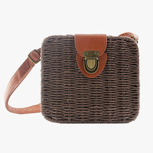 Load image into Gallery viewer, Square Straw Satchel Bag