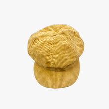 Load image into Gallery viewer, SVNX Pale Mustard Corduroy Baker Boy Hat - Accessory O