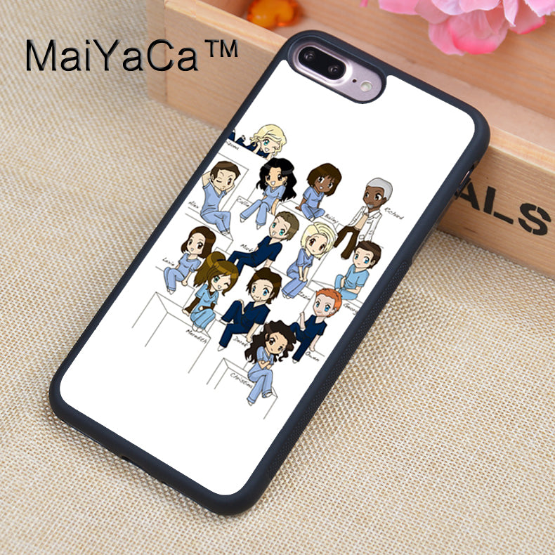 MaiYaCa greys anatomy Full Covered Rubber Case For Apple iPhone 7 ...