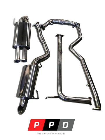 "Nissan Patrol Y62 (2013+) V8 3"" Stainless Steel Cat Back Exhaust System"