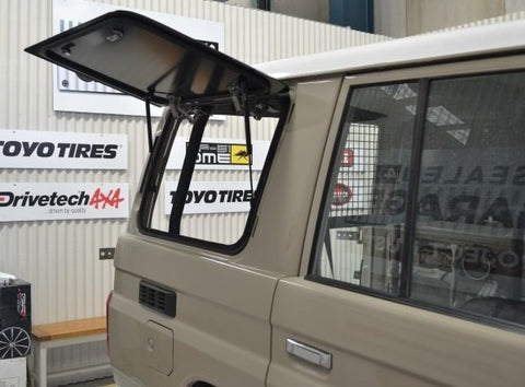 Landcruiser 76 series (2007-2020) Emu Wing Window Vehicle Access - FLAT ALUMINIUM