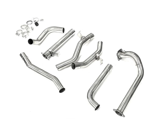 "Toyota Landcruiser 78 Series (1999-2007) Troop carrier 1HD 4.2 TD 3"" Stainless Steel Turbo Back Exhaust"
