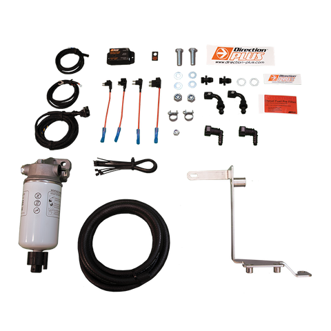 Ford Ranger (2012-2018) 3.2L & 2.2L Direction Plus PreLine Plus Fuel Pre-Filter and Pro Vent Catch Can Combo