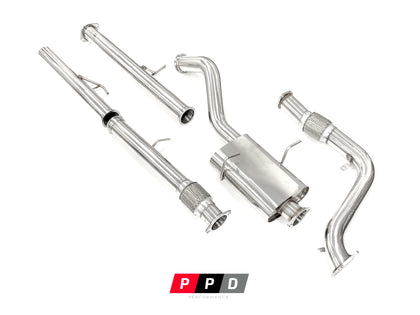 "Ford Courier (1996-2006) 2.5L 3"" Stainless Steel Turbo Back Exhaust"
