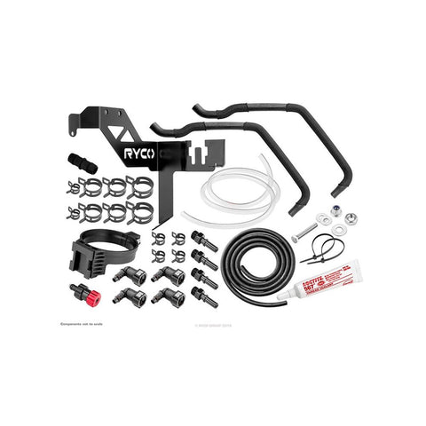 Ford Ranger (2011-2019) PXI PXII PXIII 3.2 TURBO DIESEL CATCH CAN RYCO PRE-FILTER KIT & CATCH CAN COMBO - RVSK101-1
