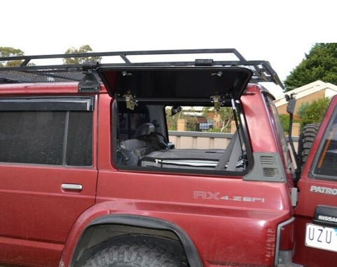 Nissan Patrol GQ LWB - Emu Wing Window Vehicle Access - FLAT ALUMINIUM