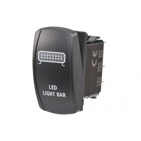 "Narva 63224BL 12/24V Off/On LED Illuminated Sealed Rocker Switch with ""LED Light Bar"" Symbol (Blue)"