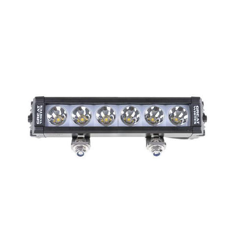 GREAT WHITES attack 6 led driving light bar backlit 11-32v - GWB5064