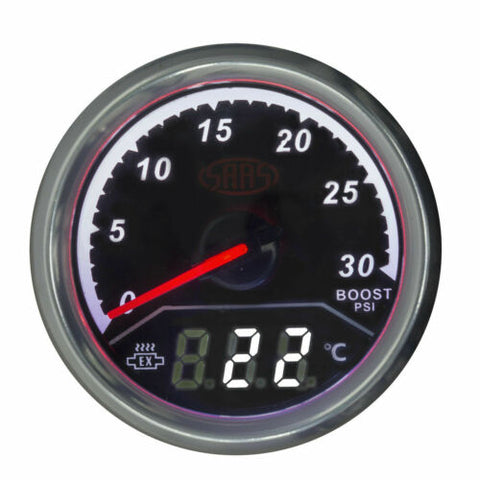 SAAS 2 IN 1 TURBO DIESEL BOOST & EXHAUST TEMP GAUGE 52MM EGT PYRO & FITTING KIT SG611240