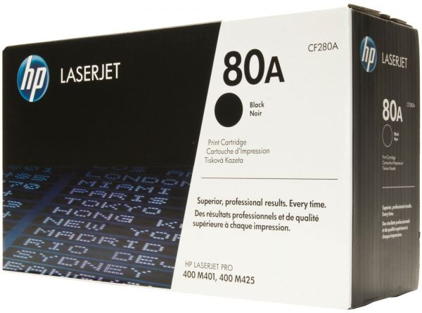 HP 80A (CF280A) Black Original LaserJet Toner Cartridge - OEM