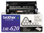 Brother Genuine TN-620 Black Toner Cartridge, 3,000 pg Std. Yield - OEM