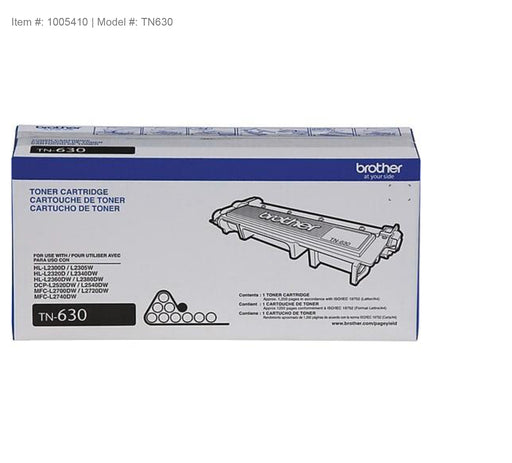 Brother Genuine TN630 Black Original Laser Toner Cartridge - OEM