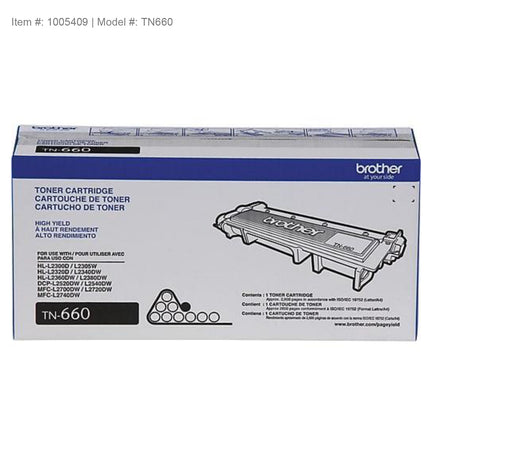 Brother (TN660 / TN630's HY) Genuine Black Toner Cartridge (High Yield) - OEM