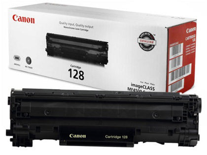 Canon Genuine 128 Black Toner Cartridge (3500B001AA) - OEM