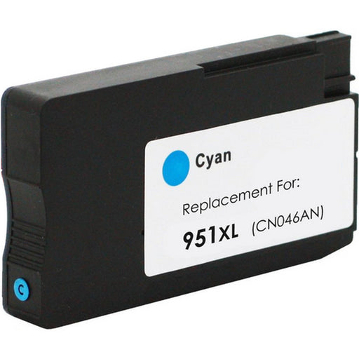 HP 951XL High Yield Cyan Original Ink Cartridge, CN046AN - Compatible