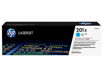 HP 201X High Yield Cyan Original LaserJet Toner Cartridge, CF401X - OEM