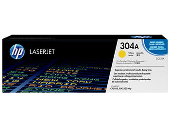 HP 304A Yellow Original LaserJet Toner Cartridge, CC532A - OEM