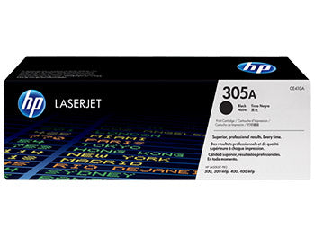 HP 305A Black Original LaserJet Toner Cartridge, CE410A - OEM