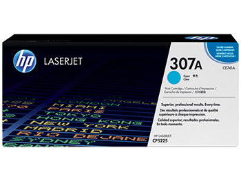 HP 307A Cyan Original LaserJet Toner Cartridge, CE741A - OEM
