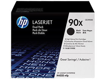 HP 90X 2-pack High Yield Black Original LaserJet Toner Cartridges, CE390XD - OEM