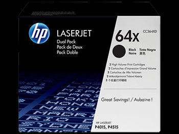 HP 64X High Yield Black Original LaserJet Toner Cartridge, CC364X - OEM