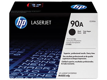 HP 90A Black Original LaserJet Toner Cartridge, CE390A - OEM
