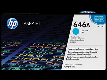 HP 646A Cyan Original LaserJet Toner Cartridge, CF031A - OEM