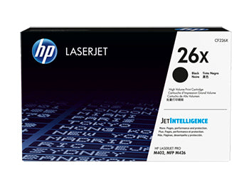 HP 26X High Yield Black Original LaserJet Toner Cartridge, CF226X - OEM High Yld.