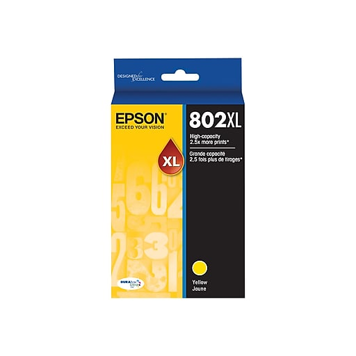 Epson 802XL With Sensor Yellow Ink Cartridge, High Yield (T802XL420-S) - OEM