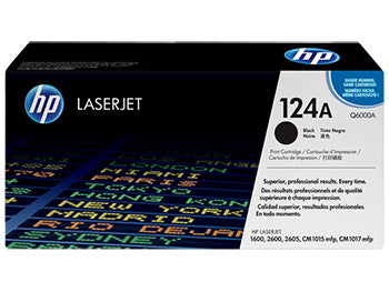 HP 124A Black Original LaserJet Toner Cartridge, Q6000A - OEM