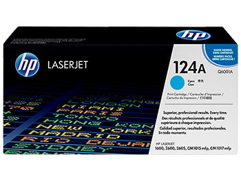HP 124A Cyan Original LaserJet Toner Cartridge, Q6001A - OEM