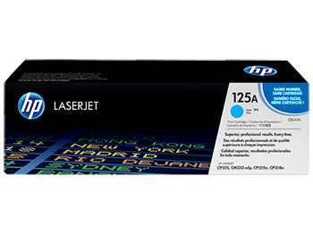 HP 125A Cyan Original LaserJet Toner Cartridge, CB541A - OEM