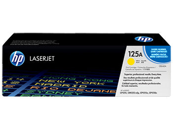 HP 125A Yellow Original LaserJet Toner Cartridge, CB542A - OEM