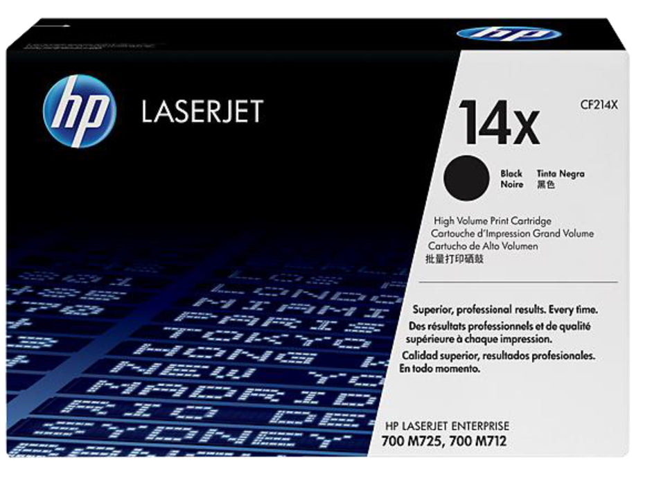 HP 14X High Yield Black Original LaserJet Toner Cartridge, CF214X - OEM
