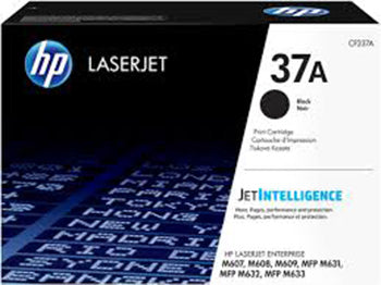 HP 37A LaserJet Black Toner Cartridge, CF237A - OEM