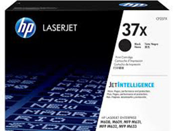 HP 37X LaserJet High Yield Black Toner Cartridge, CF237X - OEM