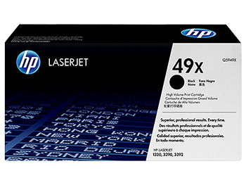 HP 49X High Yield Black Original LaserJet Toner Cartridge, Q5949X - OEM
