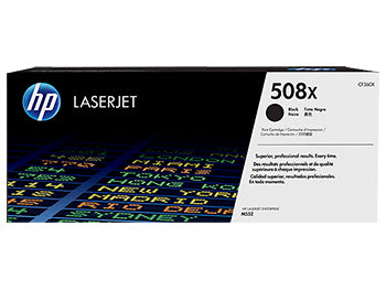 HP 508X High Yield Black Original LaserJet Toner Cartridge, CF360X - OEM
