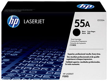 HP 55A Black Original LaserJet Toner Cartridge, CE255A - OEM