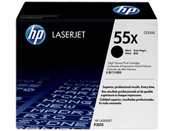 HP 55X High Yield Black Original LaserJet Toner Cartridge, CE255X - OEM