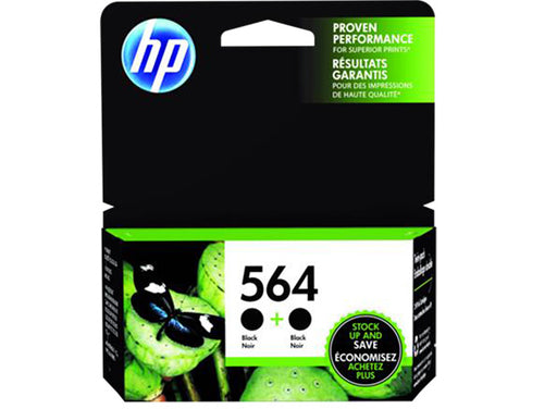 HP 564 2-pack Black Original Ink Cartridges - OEM