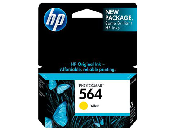 HP 564 Yellow Original Ink Cartridge - OEM