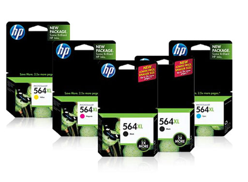 HP 564XL High Yield Black and High Yield Color Ink Cartridge Bundle - OEM