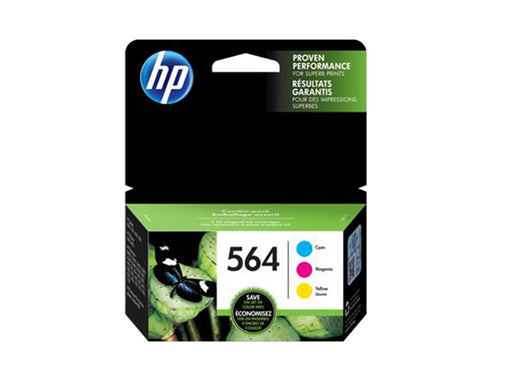 HP 564 3-pack Cyan/Magenta/Yellow Original Ink Cartridges - OEM
